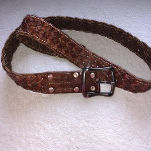 Lucky Brand Brown Woven Leather Belt